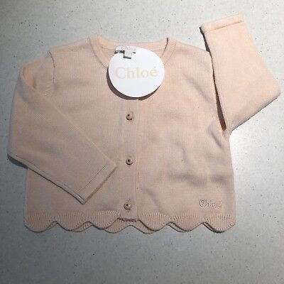 Chloe Baby Girl Cardigan Size 6 Months Pink RRP $130