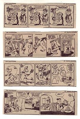 The Flintstones - Hanna-Barbera - lot of 14 daily comic strips from March 1966
