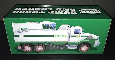 New 2017 HESS Dump Truck & Loader NIB Holiday Exclusive * FREE SHIP * BUY NOW *