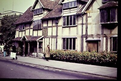 Vintage 35mm Slide Stratford Shakespeare's House London 1972
