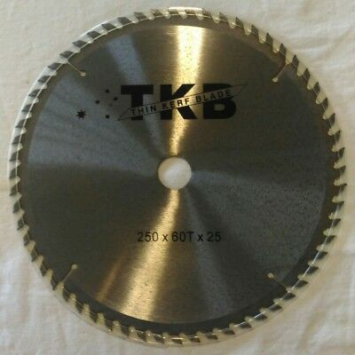 250mm 10 inch 60T circular saw blade 25.4mm bore fits 254mm