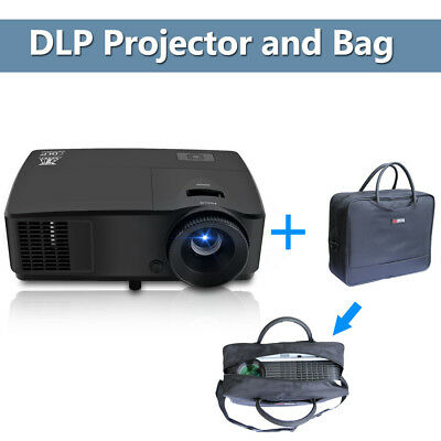 3D Ready DLP Projector HD Church Home Use with Projetor Bag for Travel Busines