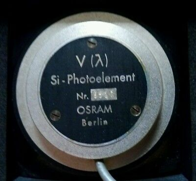 OSRAM SI Photoelement V + General Electric Photovoltaic Cell PV-1