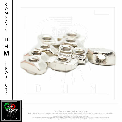 Hammer nut M6 - series 6 - 10 pieces Aluminium profiles accessories Mechanics