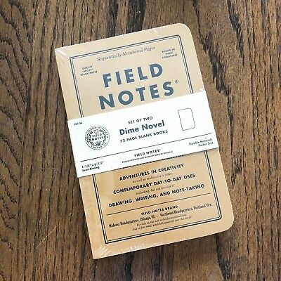 Field Notes Dime Novel 2017 Fall Edition COLORS - FREE SHIPPING
