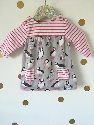 Boden Pink Stiped Puffin Dress Mino Boden Baby Girl 3-6 Months