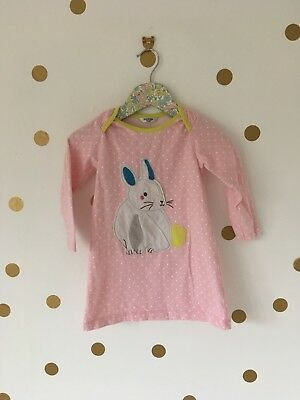 Boden Pink Spotty Baby Girl Rabbit Easter Bunny Dress 18-24 Months