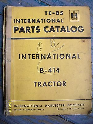 Vintage 1961? International Harvester IH B-414 Parts Catalog Lots of pages