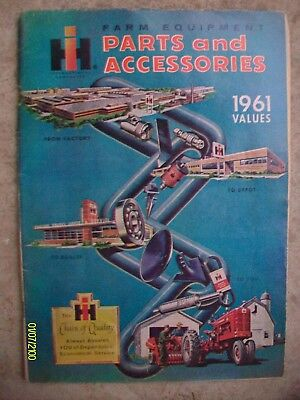 RARE HTF Vintage International Harvester IH 1961 Parts Accessories Magazine