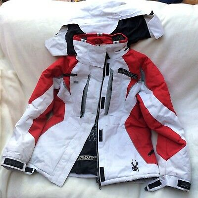 Ladies Ski Jacket Spyder Red/White Size US Large / UK 12