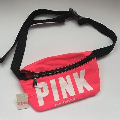 NWT Victoria's Secret PINK Spring Break Fanny Pack New Neon Pink Festival travel