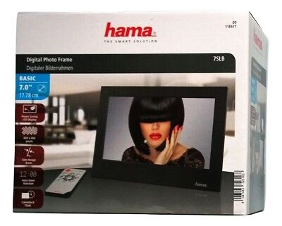 Hama 7SLB Digitaler Bilderrahmen 7 Zoll,LED Display,SD/SDHC,USB,Fernbedienung