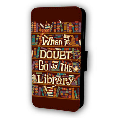 Harry Potter Hermione Library Quote Flip Style Phone Case With Card Holder