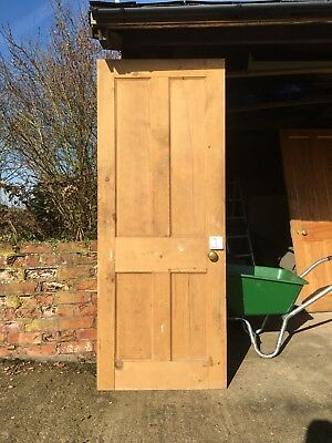 Reclaimed Pine 4 Panelled Doors with locks (6 available)