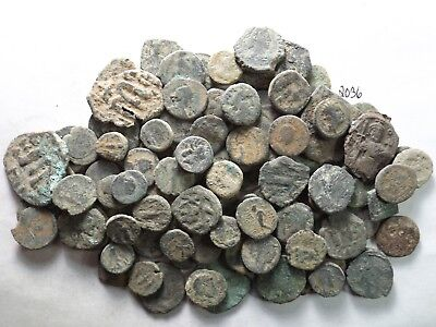 Lot of 100 Very Low Quality Uncleaned Ancient Roman/Greek Coins; 165.0 Grams!