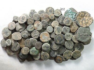 Lot of 100 Very Low Quality Uncleaned Ancient Roman/Greek Coins; 167.0 Grams!