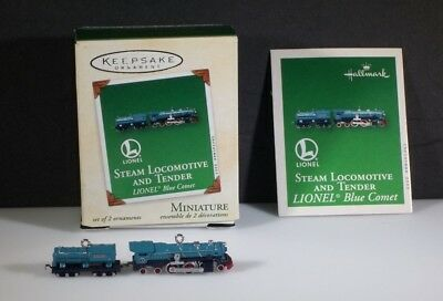 NIB Hallmark Miniature Lionel Train Keepsake Ornament Set 2003 Steam Locomotive