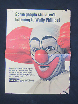 Vintage WALLY PHILLIPS, WGN 720 Radio, Chicago Bozo the Clown Circus