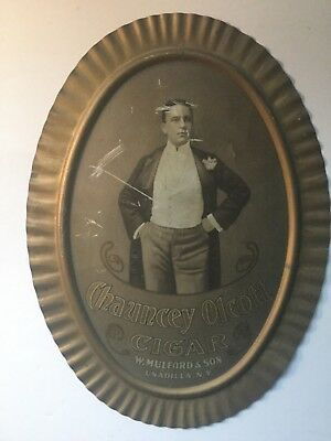 Chauncey Olcott Hanging Metal Cigar Sign
