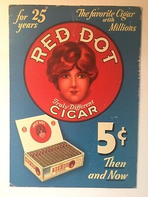 Red Dot Hanging Cigar Sign