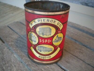 Early 1900s S.S. Pierce Co. Boston Hawaiian Pineapple Soldered Food Can