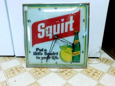 Pam Squirt Advertising Clock Put A Little Squirt In Your Life 1977 Soda Pop