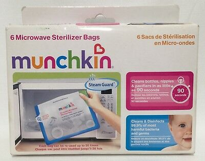 Munchkin Microwave Sterilizer Bags 5 Ct. (formerly 6-Pack) FREE SHIP