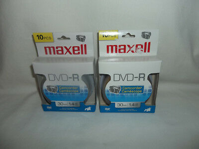 Maxell DVD-R, Compatible, Camcorder, 30 Minutes 1.4 GB - Pack of 10 (2 EACH)