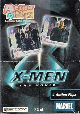 X-Men The Movie Action Flipz 2000 Artbox Trading Card Box Of 24 Packs Lenticular