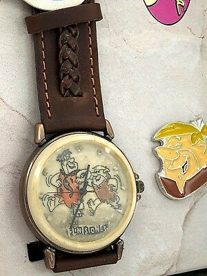 Fossil Limited Edition The Flinstones Lunchbox Watch w/ Pin