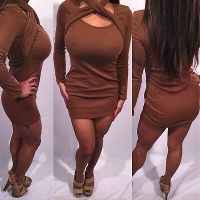 Connie's Cute Used Brown Mini dress   Size  S