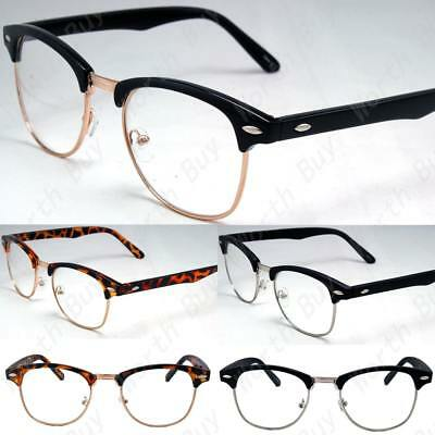 Clear Lens Fashion Glasses Retro Horn Rim Nerd Geek Men Women Hipster Eye Frame