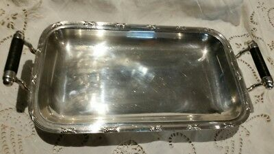 Vintage Silver Serving Dish with Handle- Stamped - Hecworth Prouds.Markings