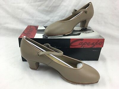 NEW in BOX Capezio 561 Tap Shoes Tan Jr. Footlight with Leather Upper and Sole