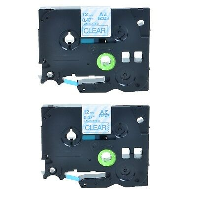 2Pack TZe133 Blue on Clear Label Tape TZ133 for Brother P-touch PT1280 PT2730