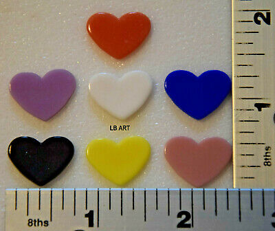 WASSER GLASS PACK OF 8 LARGE MIXED COLORED HEARTS 90 COE TESTED COMPATIBLE