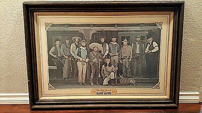 Vintage THE WILD BUNCH wares  BIANCHI LEATHER POSTER PICTURE Western FRAMED Art