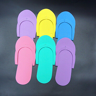 12 Pairs Universal Disposable Foam Pedicure Travel Slippers Flip Flops Fo Gift