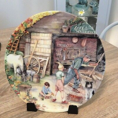Royal Doulton Plate Old Country Crafts The Wheelwright Limited Edition
