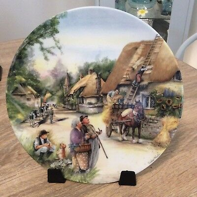 Royal Doulton Plate Old Country Crafts The Thatcher Limited Edition
