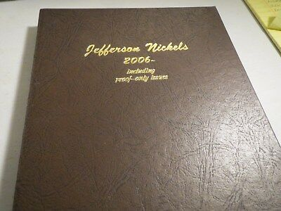 2006 to 2017 P/D/S Jefferson Nickel Set in Dansco Album Uncirculated & Gem Proof