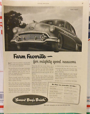 Vintage 1951 magazine ad for Buick - Farm Favorite, Fireball powered Buick Eight