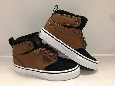 NEW  VANS ATWOOD Hi (Buck Leather) Dachshund Black Kids Size 3 Shoes ... a40785dec
