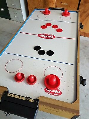 Air Hockey Table with Pushers and Pucks - Cyclops Family Fun