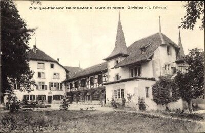 Ak Givisiez Kt. Freiburg Schweiz, Clinique Pension Sainte Marie,... - 1861430