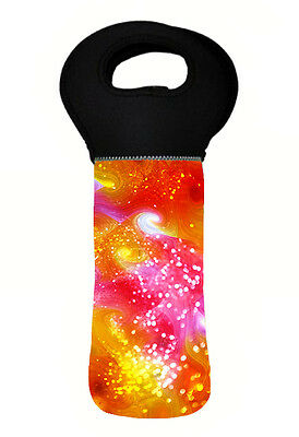 Glitter Psychedelic Wine Bottle Cooler Bag