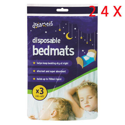 90x60cm DISPOSABLE BED MATS ABSORBENT WATERPROOF KIDS SLEEP BED PADS BABY CHANGE