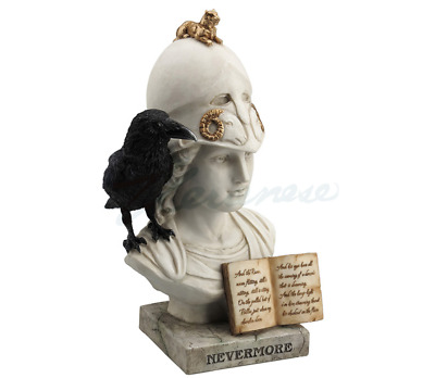 """The Raven - Nevermore Sculpture Statue """"Symbolic of Mind, Thought & Wisdom"""""""