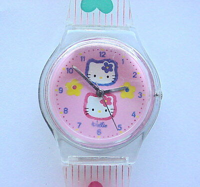 Vintage Sanrio Hello Kitty Watch with Clear Back