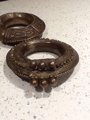 Rare Pair of 19th Century Tribal Ankle/Arm Bangles